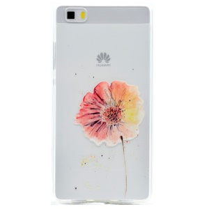 TPU Gel Skin Patterned Cover for Huawei Ascend P8 Lite - Fresh Flower