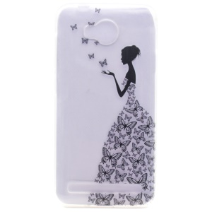 Patterned TPU Gel Cover for Huawei Y3II / Y3 II - Butterfly Fairy