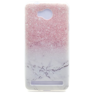 Patterned TPU Gel Cover for Huawei Y3II / Y3 II - Marble and Glitter Pattern