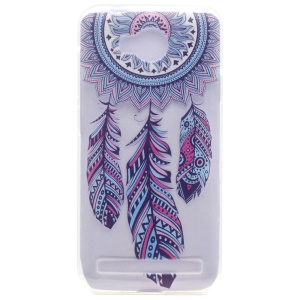 Patterned TPU Gel Cover for Huawei Y3II / Y3 II - Tribal Dreamcatcher