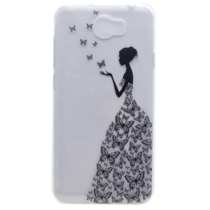 Soft TPU Case Cover for Y5II / Y5 II - Beauty Pattern