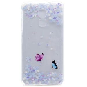 Pattern Printing Soft TPU Back Case for Honor 5C / GT3 - Butterflies and Flowers