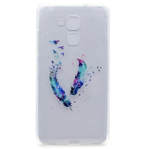 Pattern Printing TPU Gel Case for Honor 5C / GT3 - Feathers and Birds