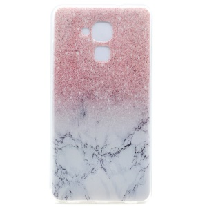 Pattern Printing Soft TPU Gel Cover for Honor 5C / GT3 - Glitter Marble Pattern