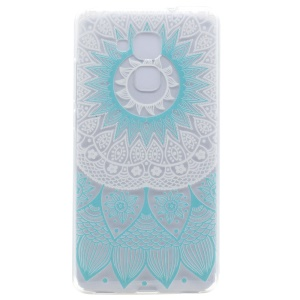 Pattern Printing TPU Flexible Shell for Honor 5C / GT3 - Blue Flower