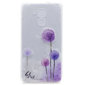 Pattern Printing TPU Jelly Cover for Honor 5C / GT3 - Purple Dandelions