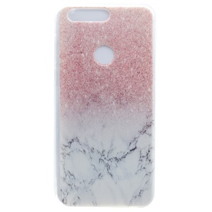TPU Cover Patterned Soft Case for Huawei Honor 8 - Glitter Marble Pattern