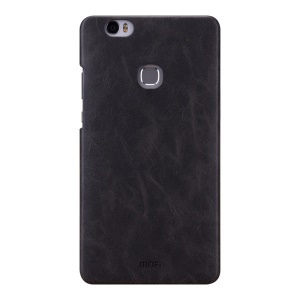 MOFI Leather Coated Hard PC Back Case for Huawei Honor Note 8 - Black
