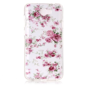 Soft IMD TPU Shell Case for Y5II / Y5 II - Vivid Flowers