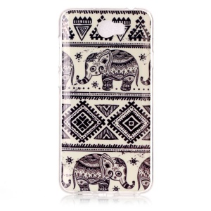Soft IMD TPU Shell for Y5II / Y5 II - Elephant and Geometric Pattern