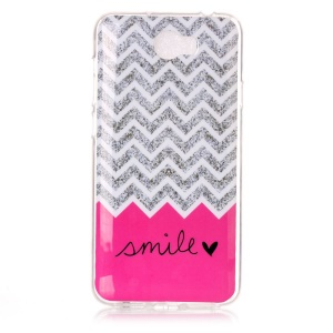 Soft IMD TPU Back Case for Y5II / Y5 II - Chevron and Smile Pattern