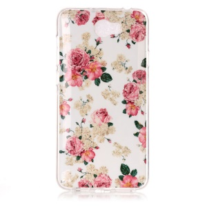 Soft IMD TPU Gel Case for Y5II / Y5 II - Beautiful Flowers