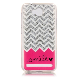 Flexible IMD TPU Case for Huawei Y3 II / Y3II - Chevron and Smile Pattern