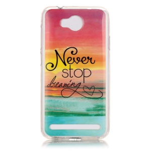 Flexible IMD TPU Cover for Huawei Y3 II / Y3II - Quote Never Stop Dreaming