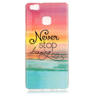 Soft IMD TPU Case for Huawei P9 Lite - Quote Never Stop Dreaming