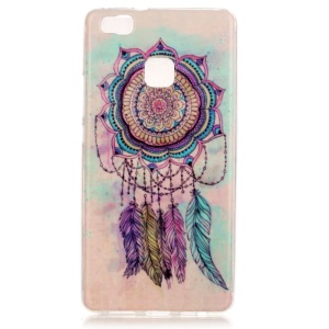Soft IMD TPU Back Case for Huawei P9 Lite - Feather Dream Catcher