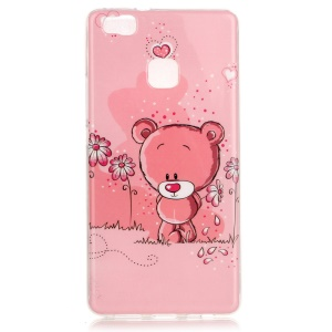 Soft IMD TPU Case Shell for Huawei P9 Lite - Cute Bear