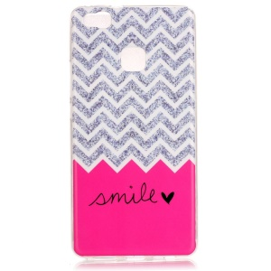 Soft IMD TPU Case Cover for Huawei P9 Lite - Chevron and Smile Pattern