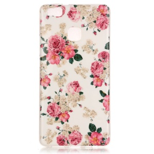Soft IMD TPU Shell Cover Case for Huawei P9 Lite - Fresh Flowers