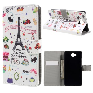 Pattern Printing Wallet Stand Leather Case for Huawei Y6 Pro / Enjoy 5 - Palette Sweet Street