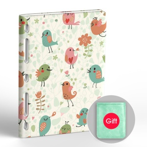 20000mAh Ultra-thin 3 USB Ports Power Bank for Phone Tablet - Flowers and Birds
