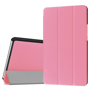 Leather Case with Tri-fold Stand for Huawei MediaPad M3 8.4 - Pink