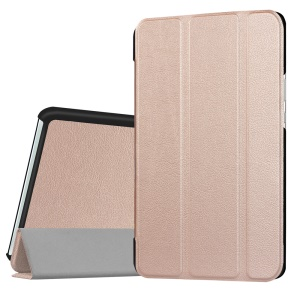 Leather Case Cover with Tri-fold Stand for Huawei MediaPad M3 8.4 - Champagne Gold