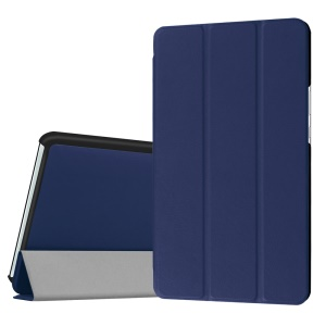 Tri-fold Stand Leather Protective Case for Huawei MediaPad M3 8.4 - Dark Blue