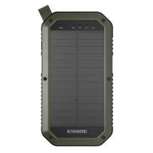 ESHINE ES981 Outdoor 8000mAh 3 portas USB Solar Power Bank com LED Camping Light - Exército verde