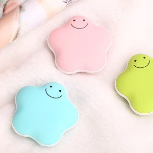 Cute Lucky Star 3600mAh Power Bank Portable Mini USB Rechargeable Hand Warmer (CE/FCC/RoHS) - Pink