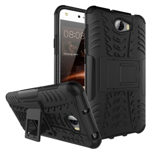 Cool Tyre Hybrid PC + TPU Case with Kickstand for Huawei Y5II / Y5 II / Honor 5 - Black