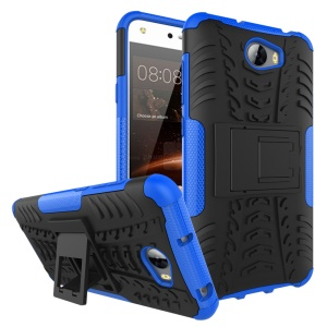 Cool Tyre PC + TPU Protector Case with Kickstand for Huawei Y5II / Y5 II / Honor 5 - Blue