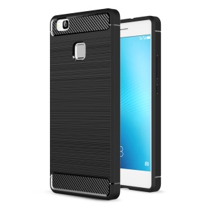 Carbon Fibre Brushed TPU Case for Huawei P9 Lite / G9 Lite - Black