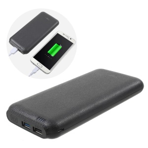 CAGER QC2 20000mAh QC2.0 2-Port Fast Charge Power Bank for iPhone 7 Plus / 7/ Samsung - Black