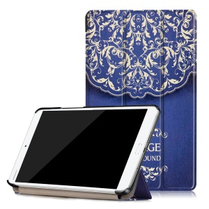 Patterned Leather Smart Protective Cover for Huawei MediaPad M3 8.4 - Vintage Flower Pattern