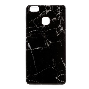 Marble Pattern TPU Soft Phone Cover for Huawei P9 Lite / G9 Lite - Black