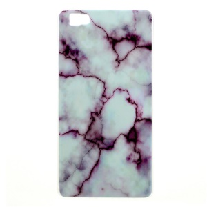 Marble Pattern IMD TPU Gel Case for Huawei Ascend P8 Lite - Purple