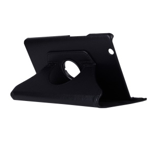 Litchi Grain Leather Rotary Stand Tablet Case for Huawei MediaPad M3 8.4 Inch - Black