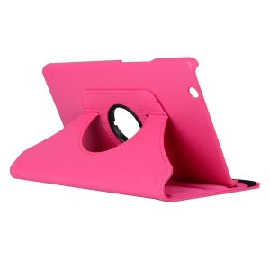 Litchi Grain 360 Degree Rotary Stand PU Leather Case for Huawei MediaPad M3 8.4 Inch - Rose