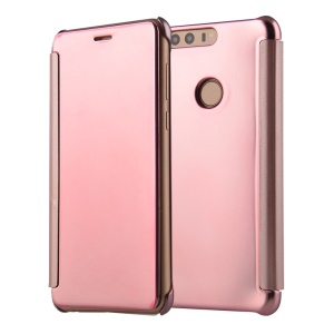 Electroplating Mirror Surface PC Leather Shell for Huawei Honor 8 - Rose Gold