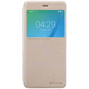 NILLKIN Sparkle Series View Window Smart Leather Case for Huawei nova - Gold