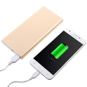 VORSON 15000mAh 2-Output External Power Bank Battery Charger VY-015 - Gold Color