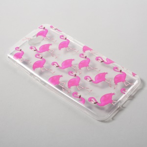 Ultrathin TPU Pattern Printing Gel Case for Huawei Y6II Compact - Rose Flamingos