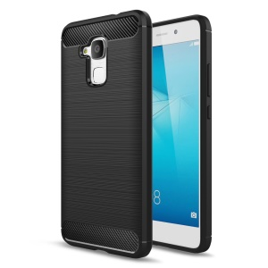 Carbon Fiber Brushed TPU Phone Case for Huawei Honor 5c / GT3 - Black