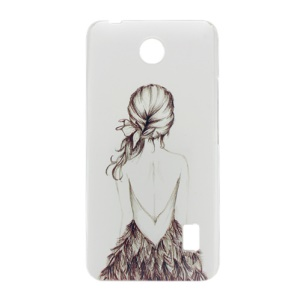 Pattern Printing Hard PC Case for Huawei Y635 - Sketch Girl Back