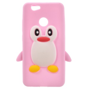 Penguin Pattern Silicone Case Cover for Huawei nova - Pink