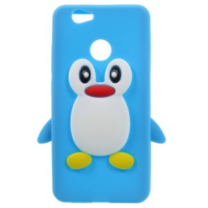 Penguin Pattern Silicone Phone Case for Huawei nova - Blue