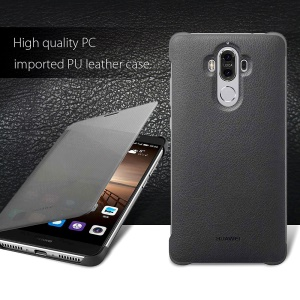HUAWEI OEM Full View Window Smart Leather Flip Case for Huawei Mate 9 - Grey
