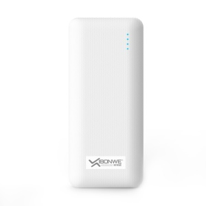 XIBONWE 15000mAh Dual USB Output Power Bank with Bracket for Mobile Phones Tablets - White