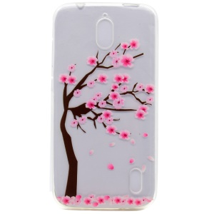 Pattern Printing TPU Case for Huawei Y625 - Tree with Flowers